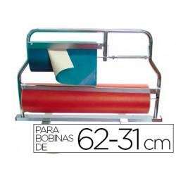 Portarrollo mostrador corta papel pintado para bobinas de 6231 cm