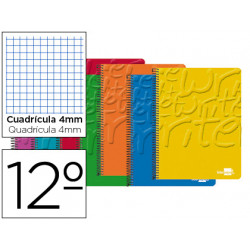 Cuaderno espiral liderpapel bolsillo doceavo write tapa blanda 80h 60 gr cu