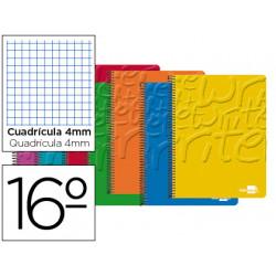 Cuaderno espiral liderpapel bolsillo dieciseisavo write tapa blanda 80h 60