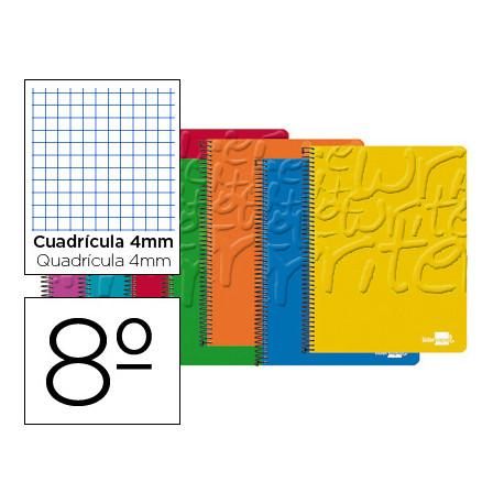 Cuaderno espiral liderpapel bolsillo octavo write tapa blanda 80h 60 gr cua