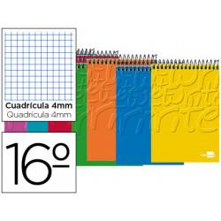 Cuaderno espiral liderpapel bolsillo dieciseisavo apaisado write tapa bland