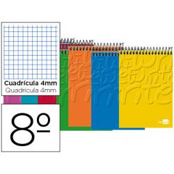 Cuaderno espiral liderpapel bolsillo octavo apaisado write tapa blanda 80h