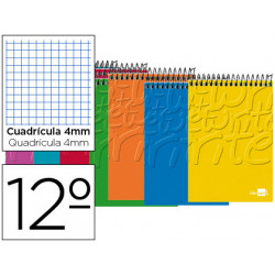 Cuaderno espiral liderpapel bolsillo doceavo apaisado write tapa blanda 80h