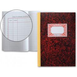 Libro miquelrius cartone 3018 folio 50 hojas registro de facturas emitidas