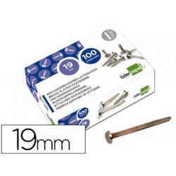Encuadernadores liderpapel n3 19 mm caja de 100 niquelados