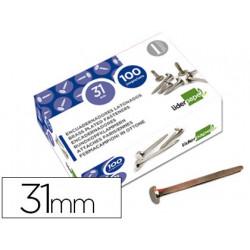 Encuadernadores liderpapel n7 31 mm caja de 100 niquelados