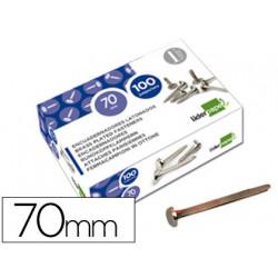 Encuadernadores liderpapel n12 70 mm caja de 100 niquelados