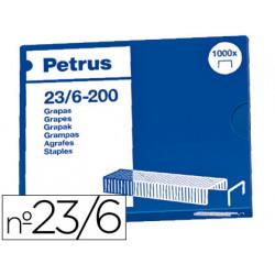Grapas petrus nº 23/6 caja de 1000