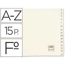 Indice alfabetico elba clasificador cartulina para archivador folio
