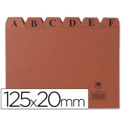 Indice fichero carton nº 4 tamaño 125x20
