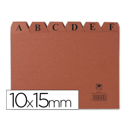 Indice fichero carton nº 3 tamaño 10x15