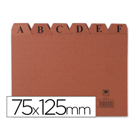 Indice fichero carton nº 2 tamaño 75x125