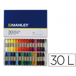 Lapices cera manley caja de 30 colores