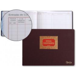 Libro miquelrius n 42 folio apaisado 100 hojas entrada de correspondencia
