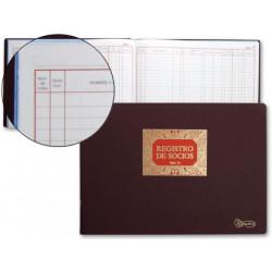 Libro miquelrius n 13 folio apaisado 100 hojas registro de socios