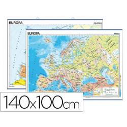 Mapa mural europa fisico/politico 140 x 100 cm