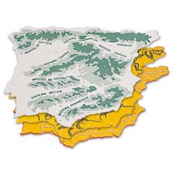 Plantilla plastico mapa españa bolsa de 3 22x18 cm