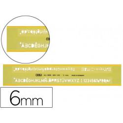 Normografo m+r 06 mm plastico turquesa transparente