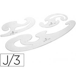 Plantillas curvas df cristal juego de 3