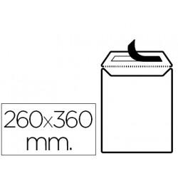 Sobre liderpapel bolsa blanco 260x360 mm solapa tira de silicona papel offs