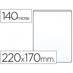 Funda portacarnet qconnect cuarto 140 micras pvc transparente 220x170mm