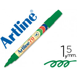 Rotulador artline marcador permanente ek70 verde punta redonda 15 mm pa