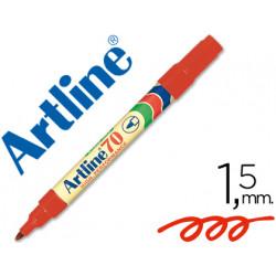 Rotulador artline marcador permanente ek70 rojo punta redonda 15 mm pap