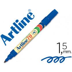 Rotulador artline marcador permanente ek70 azul punta redonda 15 mm pap