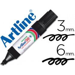 Rotulador artline marcador permanente ek50 negro punta biselada 6 mm pap