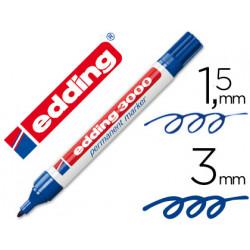 Rotulador edding marcador permanente 3000 azul punta redonda 153 mm reca