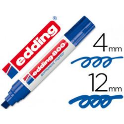 Rotulador edding marcador permanente 800 azul punta biselada 12 mm