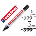 Rotulador edding marcador permanente 3000 negro punta redonda 153 mm