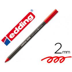 Rotulador edding punta fibra 1300 rojo punta redonda 2 mm