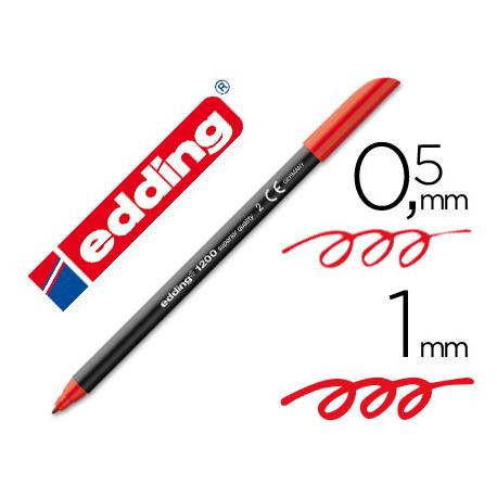 Rotulador edding punta fibra 1200 rojo n2 punta redonda 05 mm