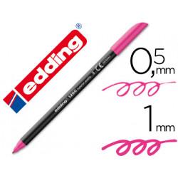 Rotulador edding punta fibra 1200 rosa n9 punta redonda 05 mm