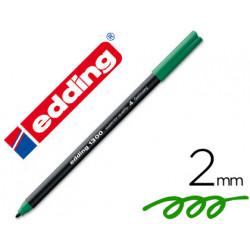 Rotulador edding punta fibra 1300 verde punta redonda 2 mm
