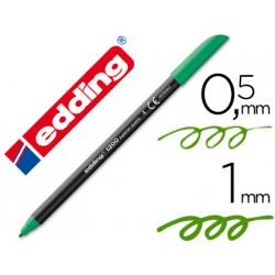 Rotulador edding punta fibra 1200 verde n4 punta redonda 05 mm
