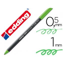 Rotulador edding punta fibra 1200 verde claro n11 punta redonda 05 mm