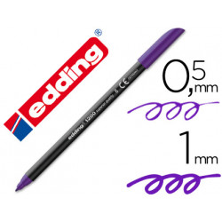 Rotulador edding punta fibra 1200 violeta n8 punta fibra 05 mm