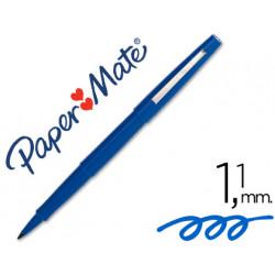 Rotulador paper mate punta nylon 31031 azul