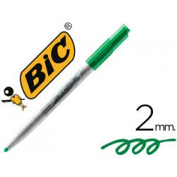 Rotulador bic velleda para pizarra verde punta redonda 2 mm