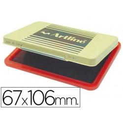 Tampon artline ehp3 rojo base de plastico 67x106 mm