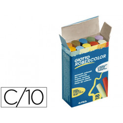 Tiza color antipolvo robercolor caja de 10 unidades