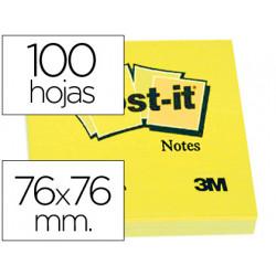 Bloc de notas adhesivas quita y pon postit 76x76 mm con 100hojas
