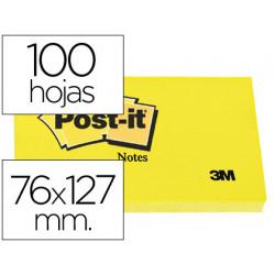 Bloc de notas adhesivas quita y pon postit 76x127 mm con 100 hojas 655