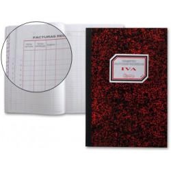 Libro miquelrius cartone 3019 folio 50 hojas registro de facturas recibidas