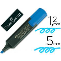 Rotulador faber fluorescente 4851 azul