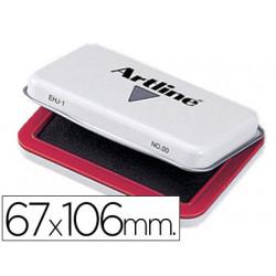 Tampon artline nº 1 rojo 67x106 mm