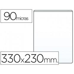 Funda portadocumento folio 90 micras pvc transparente