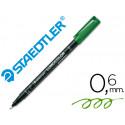 Rotulador lumocolor retroproyeccion punta de fibrapermanente 3185 verde pu
